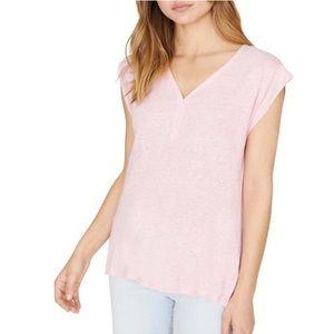Sanctuary Pale Pink Linen Top NWT Medium